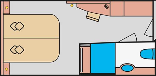 Beispielgrundriss AIDAprima Innenkabine