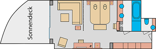Grundriss AIDAprima Suite