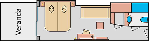 Grundriss AIDAprima Panoramakabine