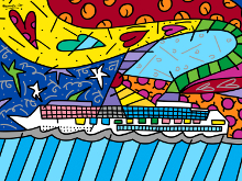 Romero Britto - Cruise at Sea