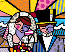 Romero Britto - Honeymoon