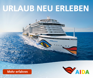 Fordern Sie hier die aktuellen Kreuzfahrt Kataloge an und buchen Sie Ihre Traumreise auf einem der AIDA Kreuzfahrtschiffe!